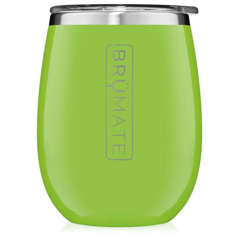 BruMate Uncork'D Wine Tumbler - Electric Green