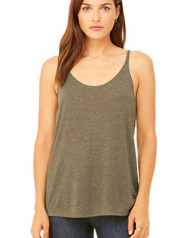 Slouchy Basic Tank - Heather Olive
