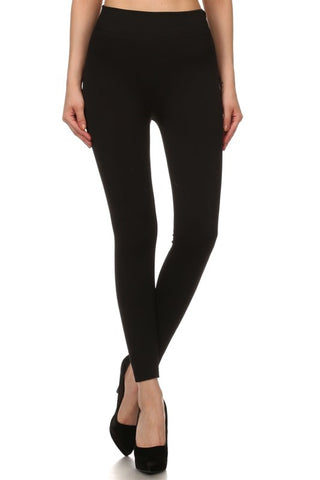 Solid Fleece Lined Leggings - 8 colors