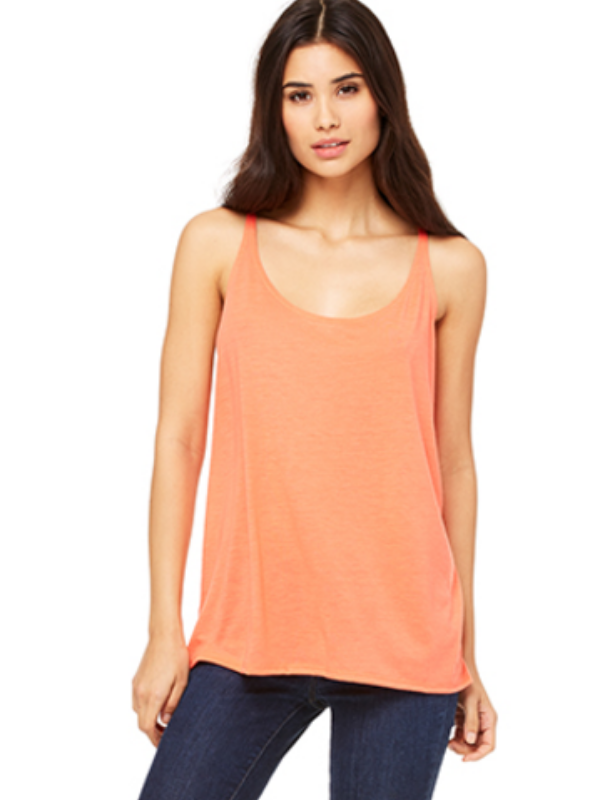Slouchy Basic Tank - Coral/Orange