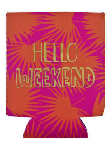 Hello Weekend Can Cooler