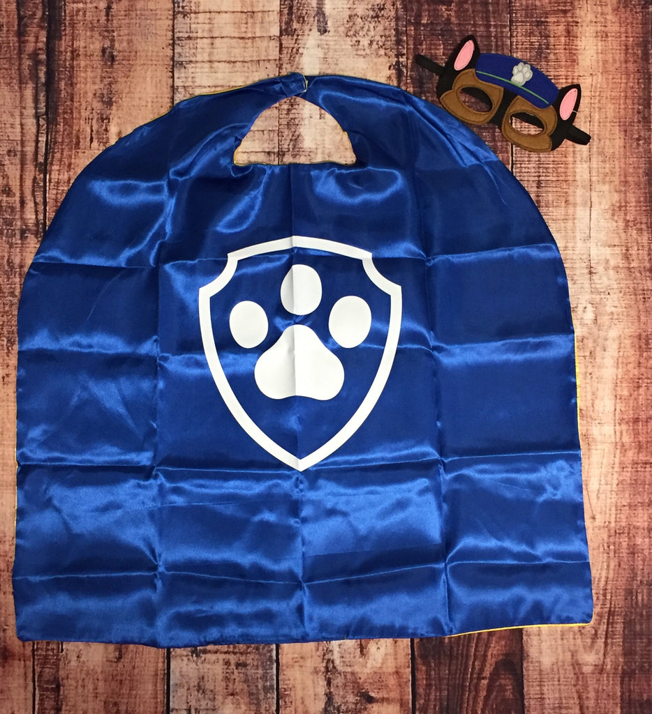 Chase Paw Patrol Mask & Cape Set