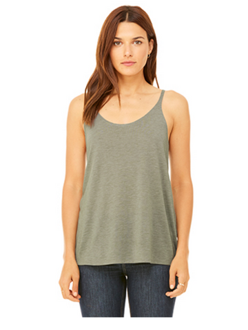 Slouchy Basic Tank - Heather Stone