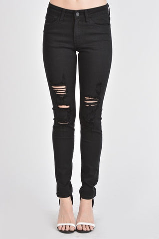 KanCan Haile Black Destroyed Skinny Jeans