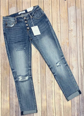 KanCan Destroyed Benny Girlfriend Jeans