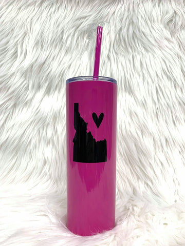Idaho Love Tall Tumbler-Hot Pink/Bk