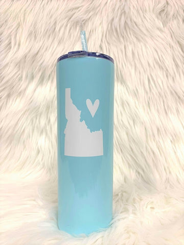 Idaho Love Tall Tumbler-Lt Blue