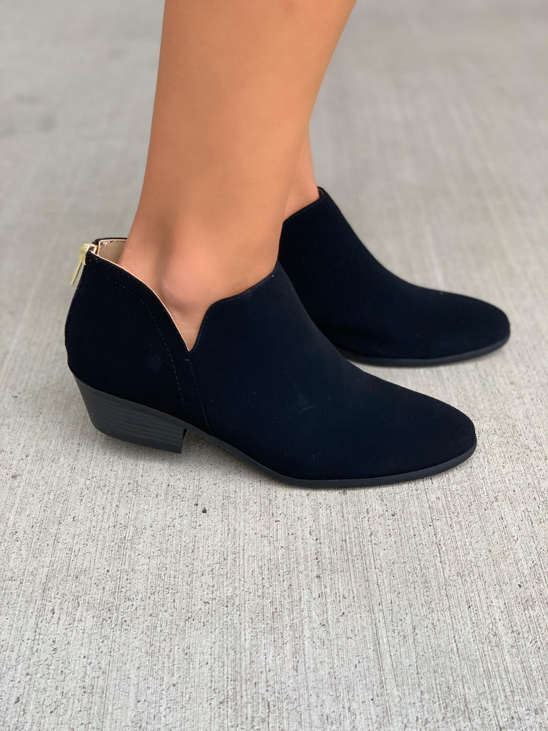 black low booties