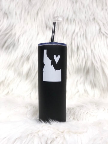 Idaho Love Tall Tumbler-Black/White