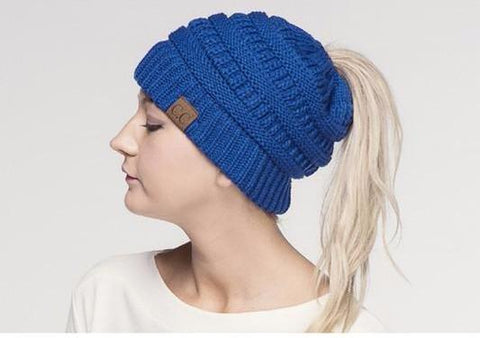 Messy Bun CC Beanie - Solid Colors
