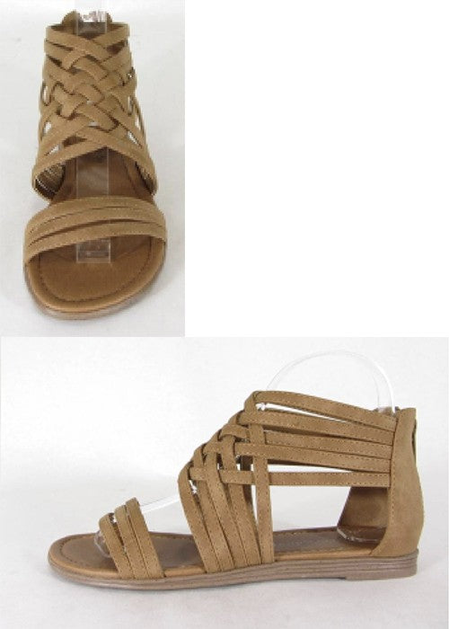 Brown Raven Strappy Sandals