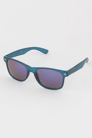 Colored Frame Mirrored Paige Sunglasses
