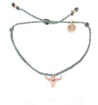 Bull Head Pura Vida Bracelet - Rose Gold