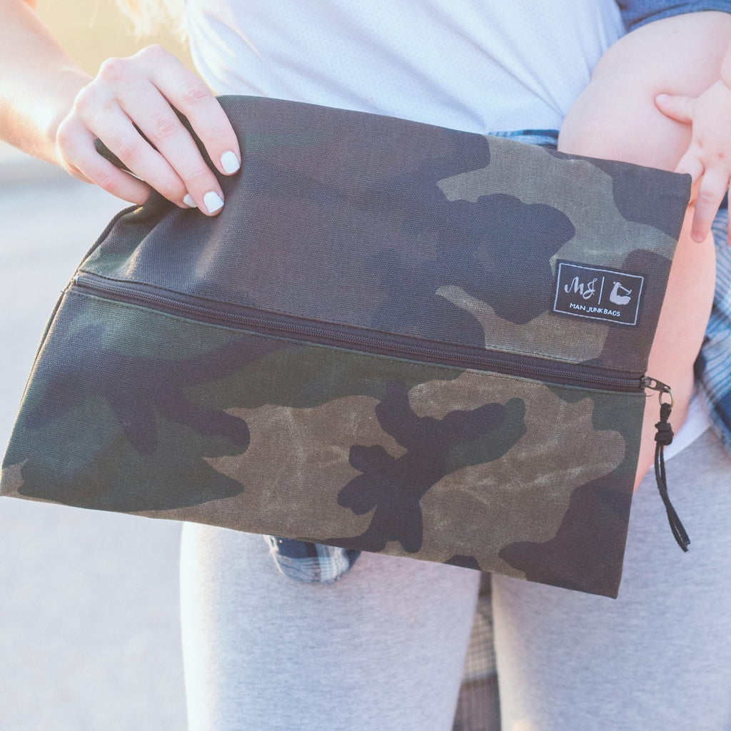 Camo Man Junk Makeup Junkie Bag