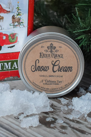 Snow Cream Candle