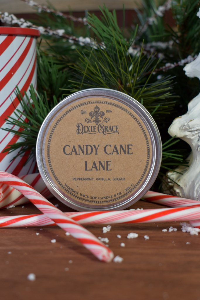 Candy Cane Lane Candle