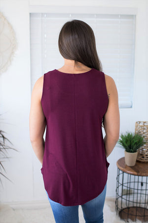 Basic Deep Plum Scoop Tank (SM-3X)