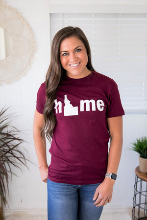 Burgundy Idaho Home Unisex Graphic Tee