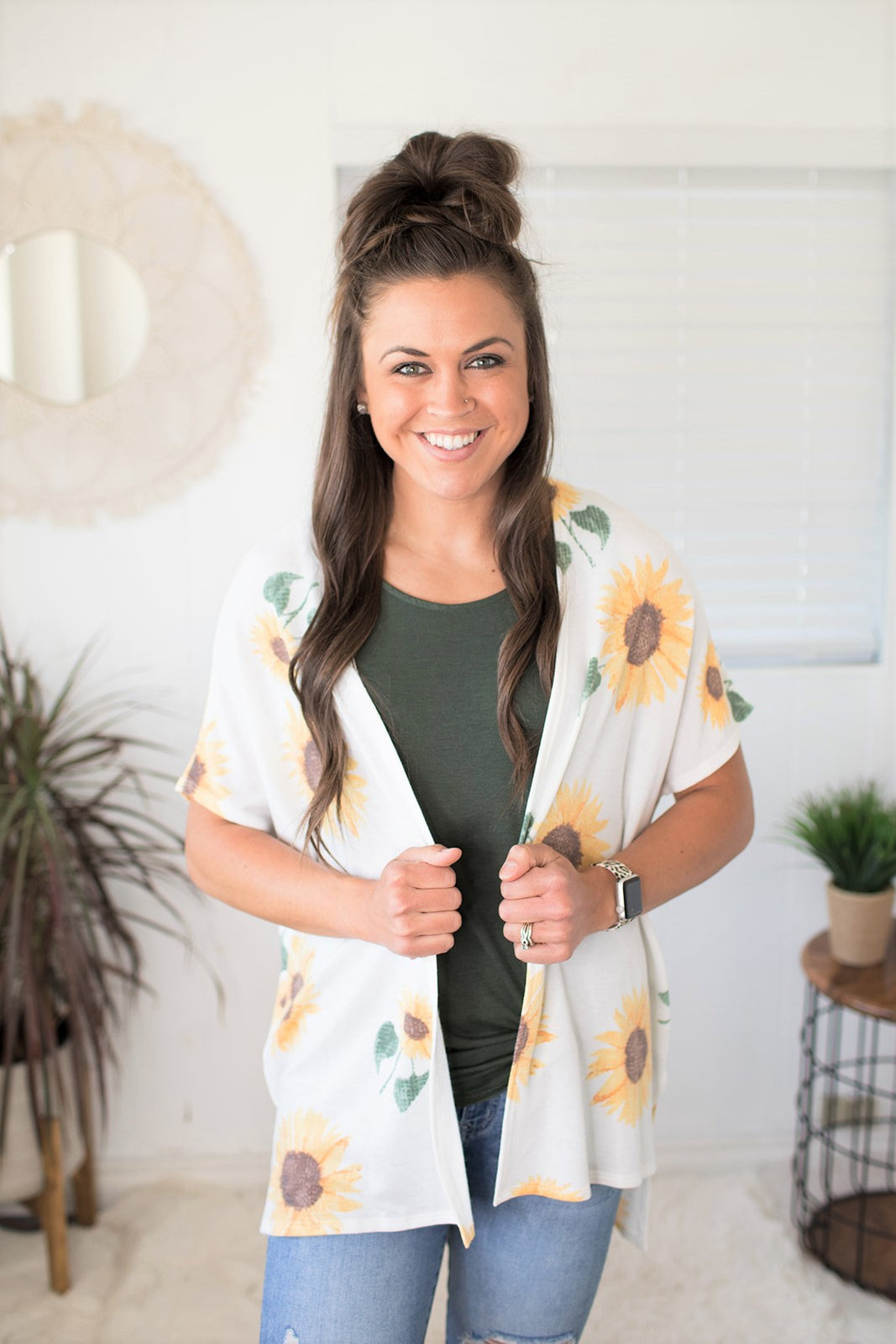 Sunflower SS Cardigan (SM-XL)