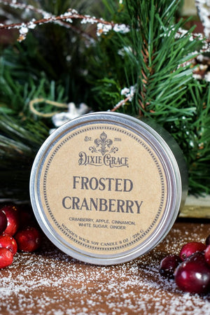 Frosted Cranberry Candle