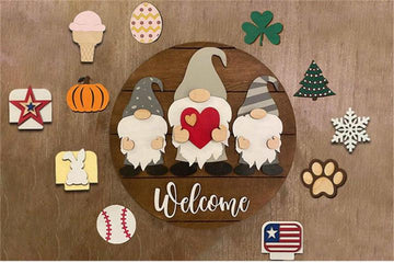 PREORDER - Gnome Holiday Hanging Sign