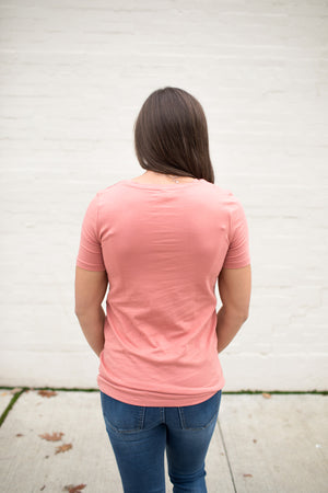 Ash Rose Basic Cotton Crew Neck Tee