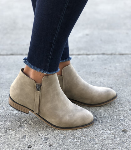 Light Taupe Lancer Booties