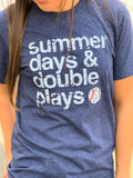 Summer Days Double Plays Baseball Graphic Tee