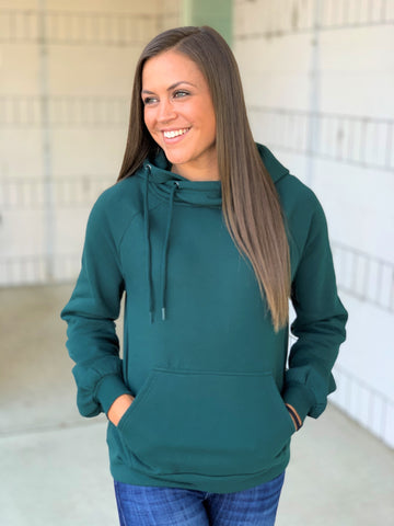 Hunter Green Simply Cozy Hoodie (SM-XL)