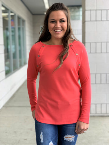Coral Soft Thermal Button LS Top