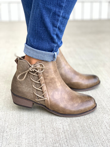 Zoey Lace Up Ankle Booties