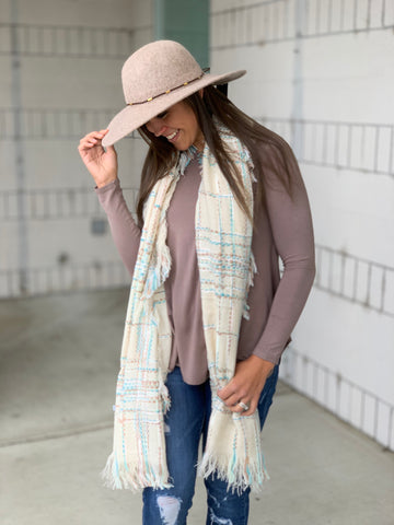 Oatmeal Wide Brim Floppy Hat