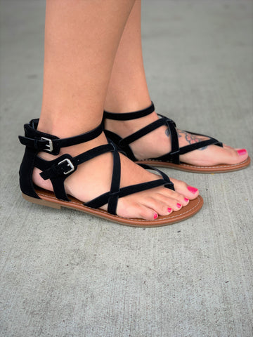 Black Perfect Strappy Sandals