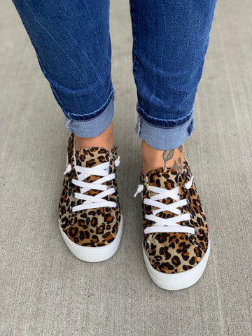 Lati Leopard Lace Up Sneakers