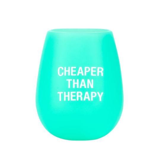 Cheaper Than Therapy Silicone Wine Glass
