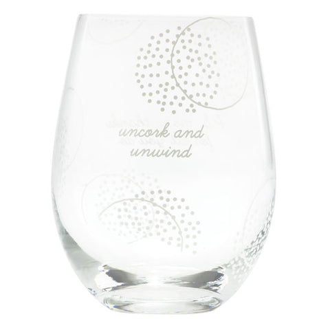 PS Mom Uncork Unwind Stemless Wine Glass