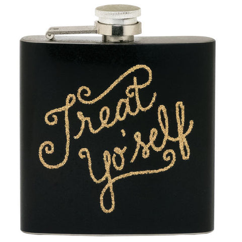 Treat Yo' Self Flask