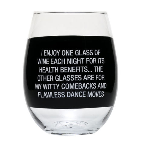 Comebacks & Dance Moves Stemless Wine Glass