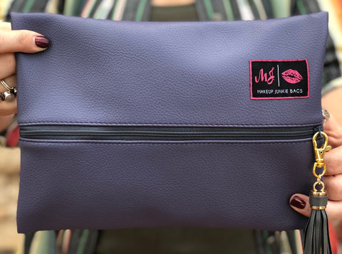 Periwinkle Makeup Junkie Bag - Small