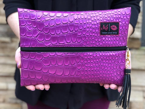 Purple Kinda Pink Makeup Junkie Bag - Small