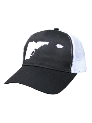 Idaho Tree-Gun Baseball Hat - Black/White
