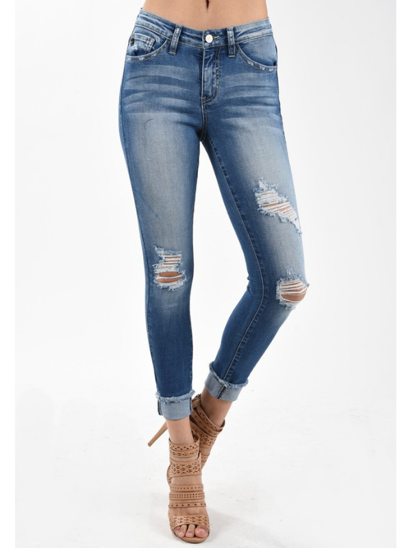 KanCan Sharon Distressed Skinny Jeans