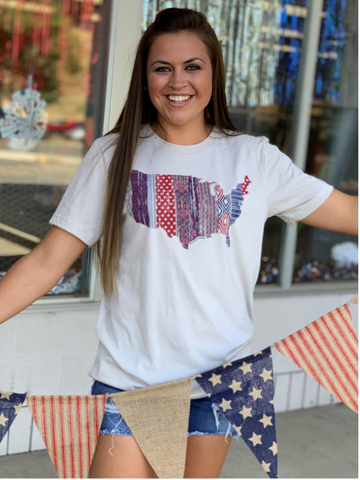 Patchwork USA Graphic Tee