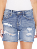 JB Light Wash Destroyed Denim Jean Shorts