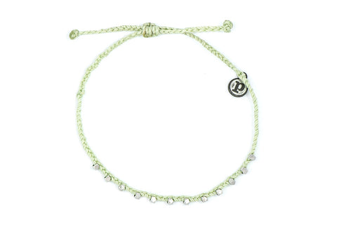 Silver Stitched Bead Pura Vida Anklet