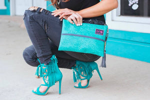 Turquoise Dream Makeup Junkie Bag - Small