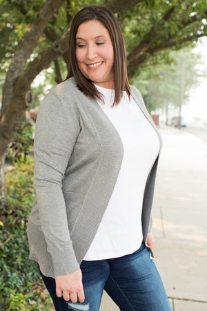 Heather Gray Everyday Pocket Cardigan (SM-2X)