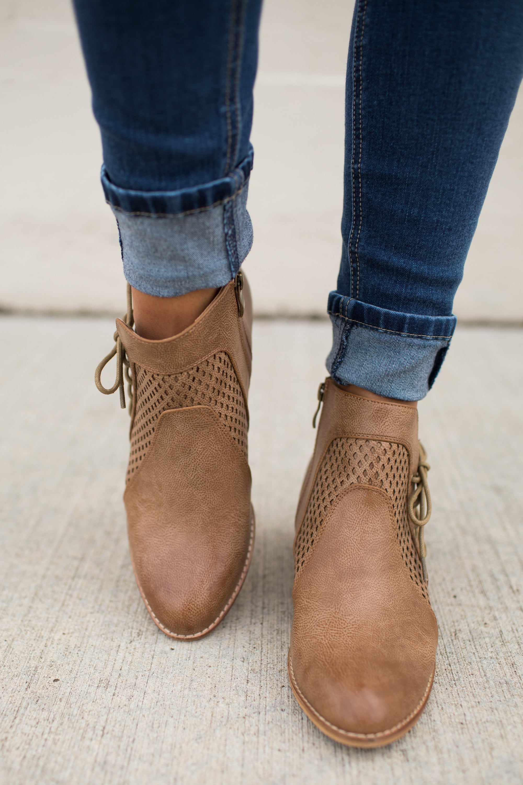 Denver Side Lace Up Ankle Booties
