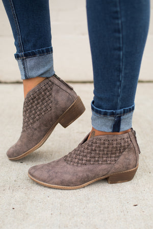 Not Rated Petra Taupe Ankle Booties