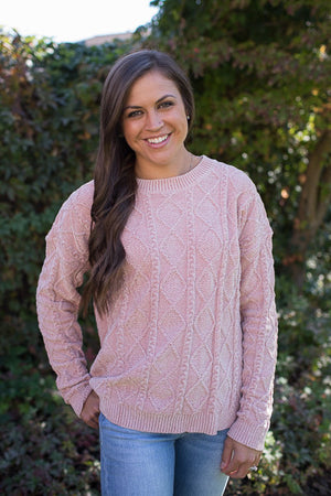 Blush Diamond Plush Pullover Sweater